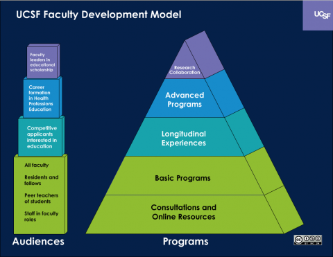 UCSF Faculty Development Model (Pyramid)