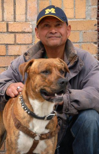 SOS recently secured permanent, affordable housing in San Francisco for client, Alvaro, and constant canine comp-anion, Max. SOS also connected Alvaro with SFCCC member clinics for geriatric and dental care, while VET SOS provided free veterinary services to Max and coordinated his service animal licensing. After spending the last 20 years without a regular roof over his head, Alvaro can now be seen looking for furniture and artwork to decorate their new home. (Photo credit: Marlena Hartman-Filson)