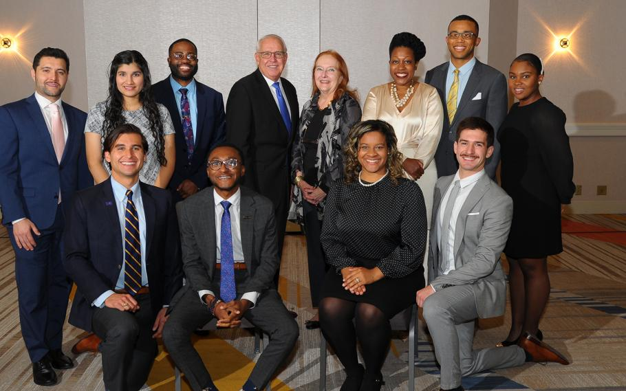 AAMC scholars, including UCSF Medical Student Kyle Lakatos (bottom right) receive awards at the Association of American Medical Colleges Annual Meeting November 2019.