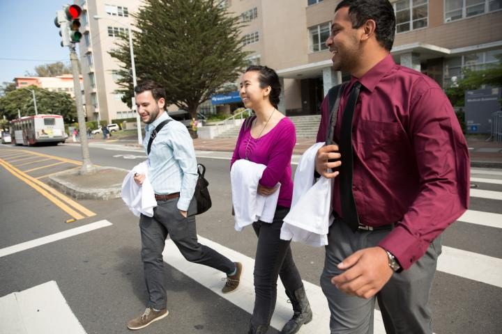 Medical students at UCSF work collaboratively with interprofessional teams to provide compassionate patient care.